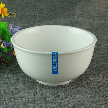 China Supplier White Tall Soup Ceramic Bowl Eco Friendly