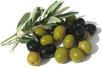 Green & black olives