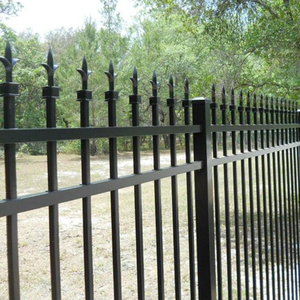 Antique Wrought Iron Hoop Spear Fence Designs For Commercial