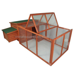 Modern Design Eco-Friendly Feature Nature Fir Wood Wooden Chicken Coop with Run Cage Ladder Waterproof