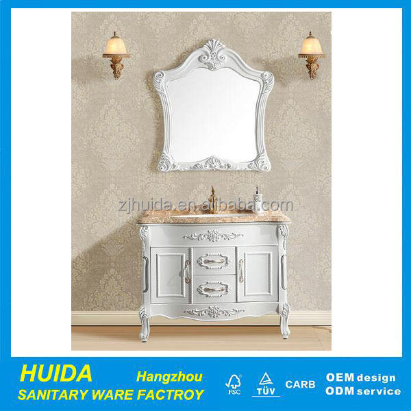 Floor Mounted Bathroom Cabinet Furniture Sanitary Ware Marble Cabinet Luxury European Vanity Unit