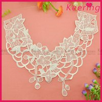 neck design lace for churidar nylon lace fabric wholesale WLS-020