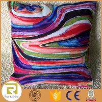 Wholesale 100% Cotton rainbow digital printed cushion pillow