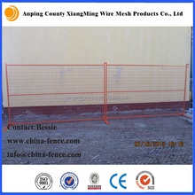 anti-climb portable temporary guard fencing panel direct factory/Canada welded mobile panel fencing