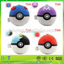 New Pokemon go hot cartoon colourful poke ball round stuffed <strong>toy</strong>