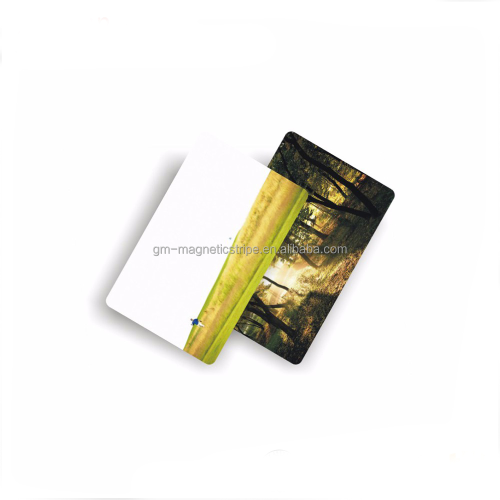 CMYK full color printing matte frosted finished spot UV hot stamping plastic business PVC card