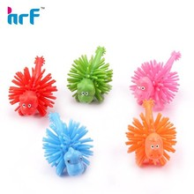 Small 3d cute dinosaur ped bouncy ball key charms for kids