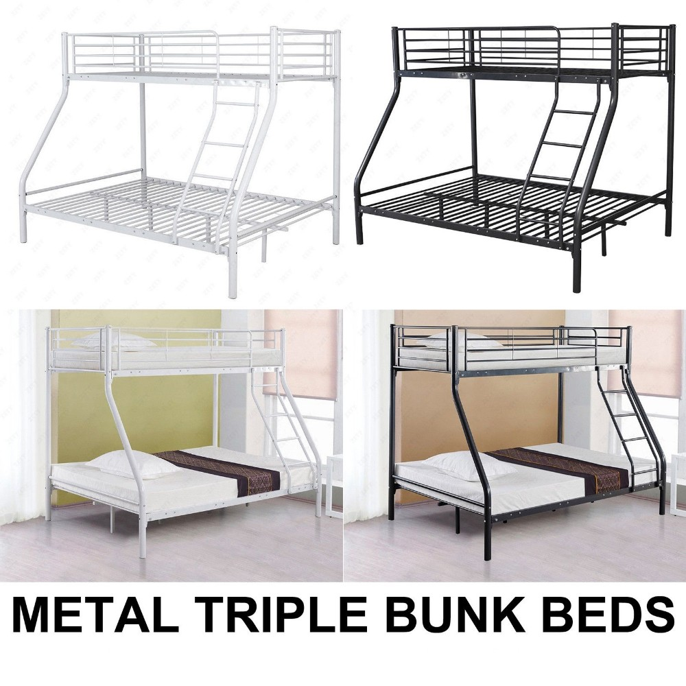 Cheap metal triple bunk bed sale made in china buy for Cheap metal bunk beds