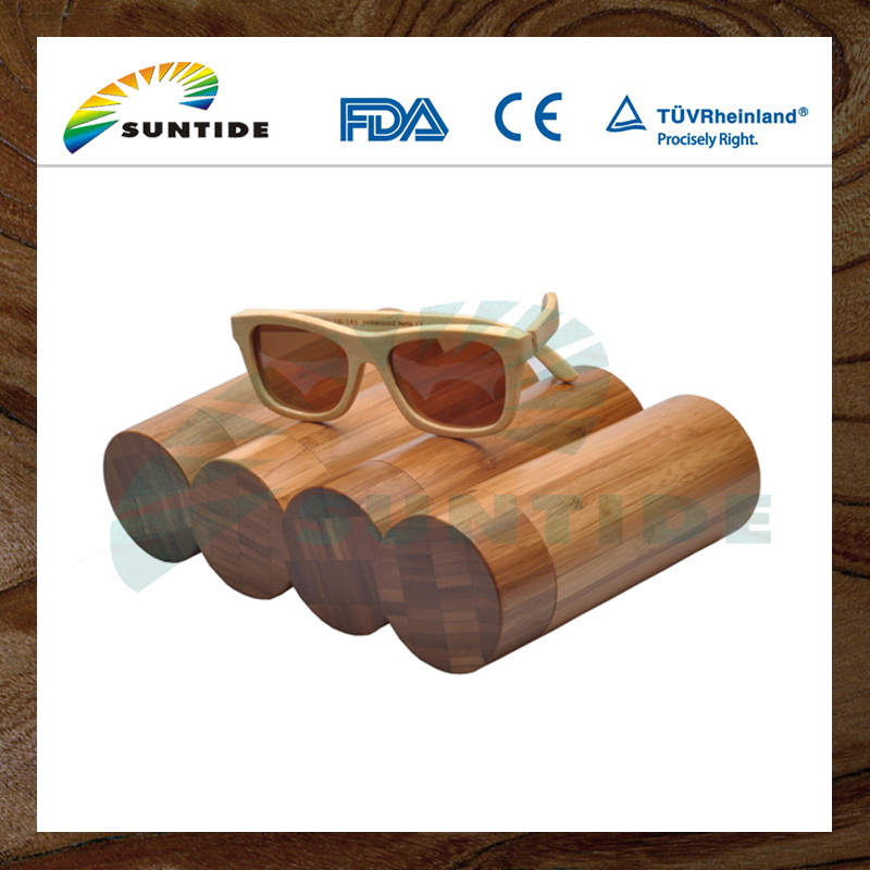 Factory directly provide Fashion design Excellent material bamboo sunglasses case