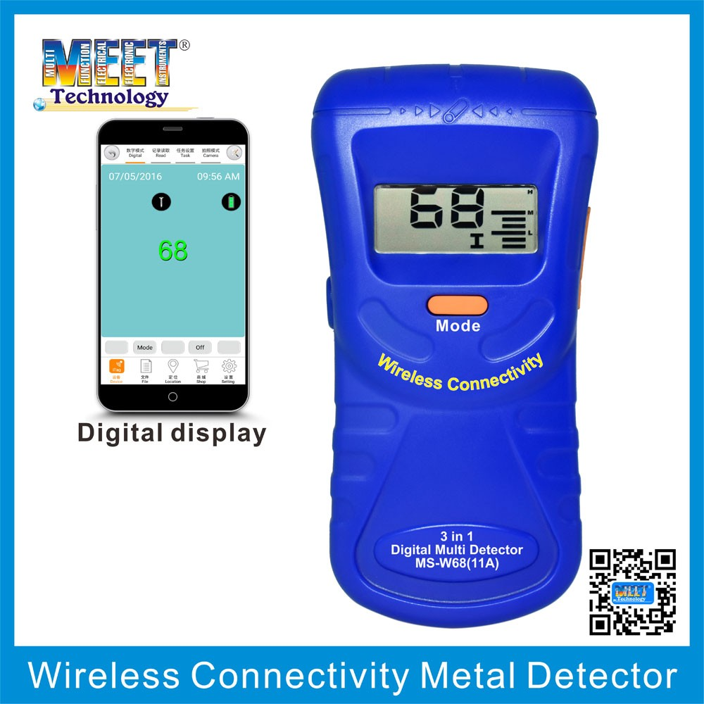 MS-W68(11A ) Wireless Connectivity Handheld Metal Detector to Detect Metal