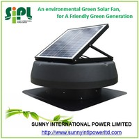 Aluminum Blade Material and Roof mounted 12inch solar ventilation fan portable solar system