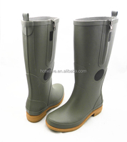 new style cheap grey side zip rubber boots