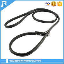 Wholesale New Age Products 8 Colors Leather Rope dog leash with plastic handle