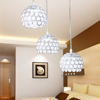 metal bases chrome color led k9 crystals ball ceiling light