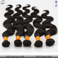 100% indian temple hair extension, body human hair weft, natural raw virgin remy hair