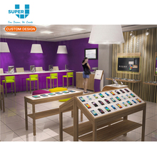 OEM/ODM Wooden Shop Design for Mobile Phone Store Furniture