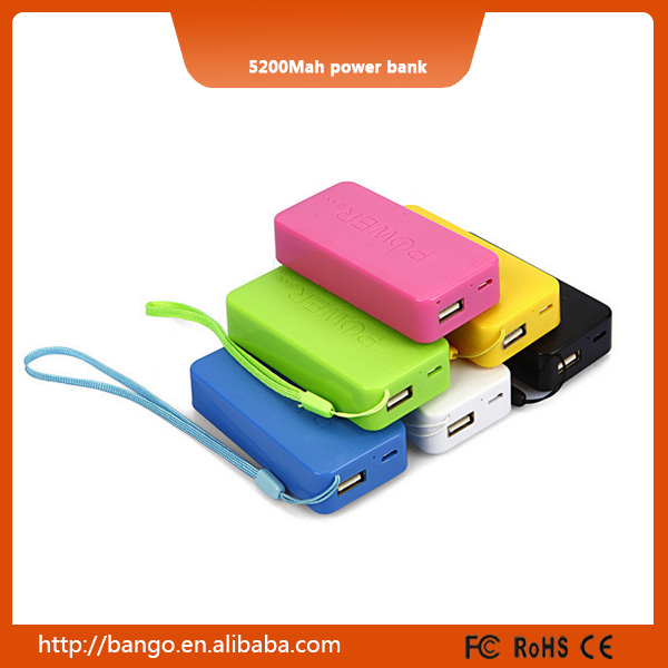 2016 super cute portable mobile phone battery charger 5200mah mobile phone battery