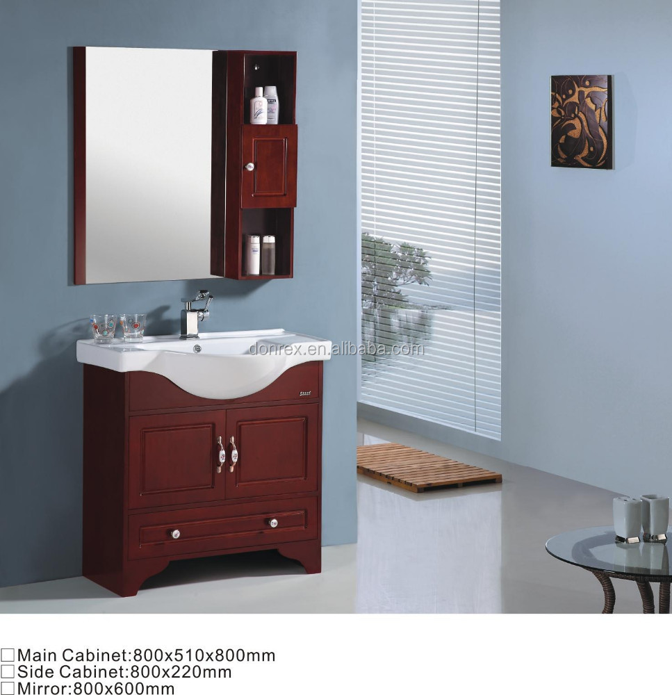 800mm red wooden bathroom mirror cabinets buy bathroom for Bathroom cabinet 800