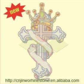 New Hot-sale china factory direct sale iron on rhinestone transfers fleur de lis wholesale