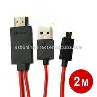 hdmi to usb converter 2m 11P MHL Micro USB to RCA Cable Mini USB Adapter cable adapter for Samsung Galaxy S3 S4 S5 Note 3 2 4 5