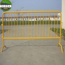 Galvanized Stainless Steel Construction removable road crowd control barricades for sale