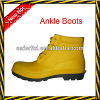 ankle PVC mining safety shoes with steel toe and steel sole