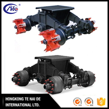 24T 28T 32T 36T Trailer LOW Mounting Bogie Suspension with 2 spoke wheel or disc wheel