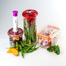 New ECO Friendly 1.3L Vacuum Storage Container and Fresh-keeping Box with Pump for Fresh Food Dry Food Preservation
