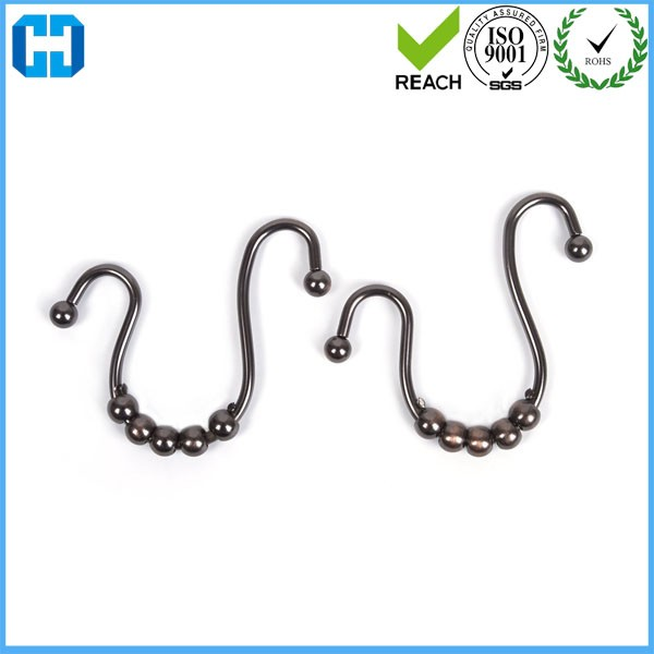 Practical Bath Rollerball Shower Curtain Hooks Glide Rings In China