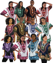 Wholesale Comfortable Authentic Traditional African Print Dashiki Shirts
