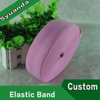 1Inch Pink Soft Pattern Nylon Woven Elastic Band