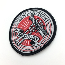 Custom woven patch badge embroidered Iron-On Logo Patches