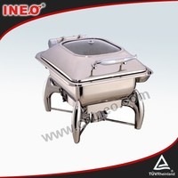 Stainless Steel Round Induction Buffet Tray/Ceramic Buffet Food Warmer/Buffet Heater