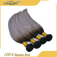 Wholesale New Arrival Human Hair Straight Hair Gray Remy Hair Extensions