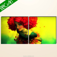 New arrival realist vivid duplicate colorful circus clown art painting