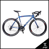 Cycle 700C Track V-Brake Bicycle Aluminium Muscle Frame Racing Chinese Bicycle 14 Speed Road Bike 700C