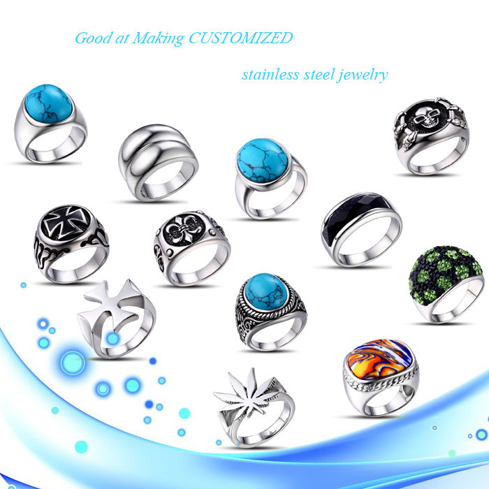 factory wholesale price stainless steel jewelry skull fashion ring