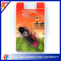 strawberry scent red football boot shape manly car pendant air freshener/unique car air freshener