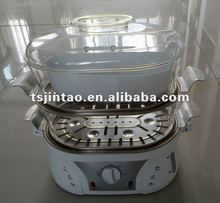 High-quality 2-layer food steamer stainless steel tray