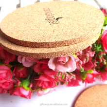 Eco-friendly cheap price customizable wholesale cork/wooden coasters with cork bottom