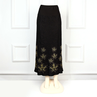 latest skirt design pictures long skirt gold embroidery beaded maxi skirt plus size