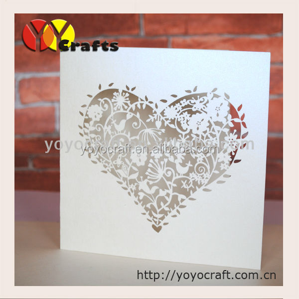 wholesale laser cut frame in invitation cards