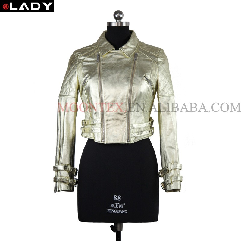 wholesale ladies good quality winter leather clothing