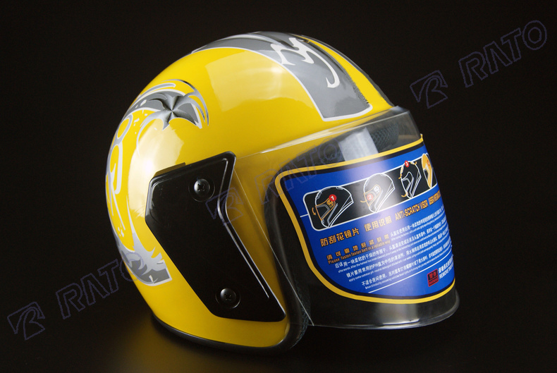 Stylish charming yellow half face motorcycle helmet sale