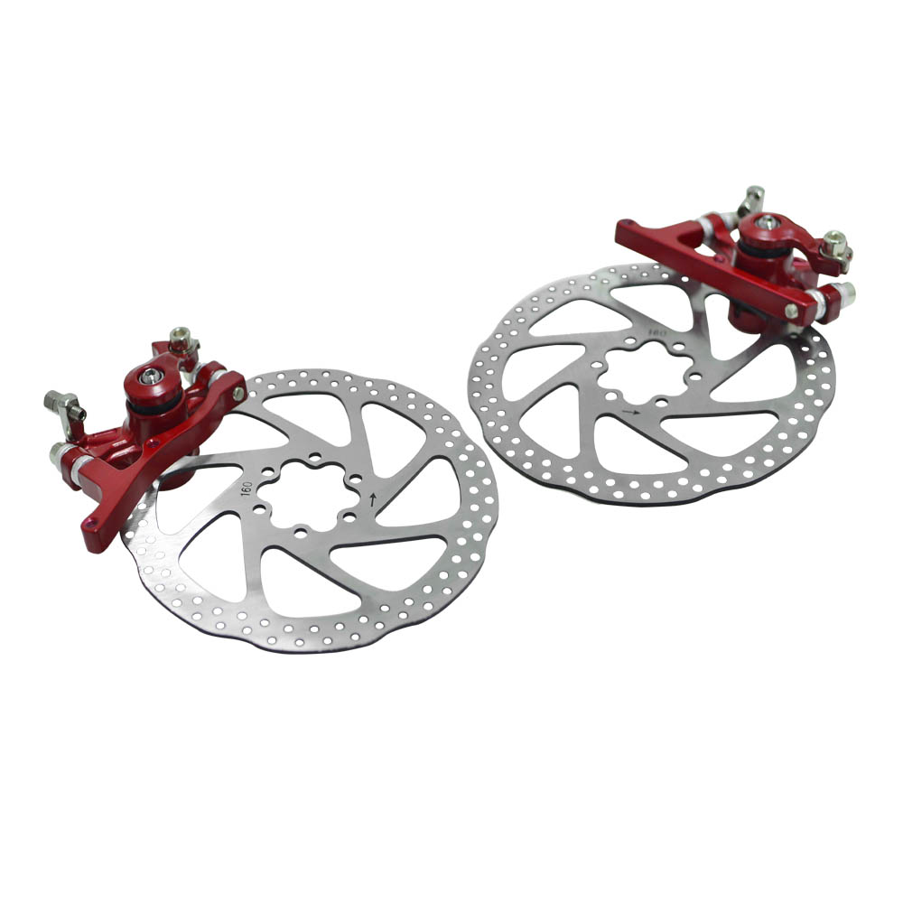 Mechanical Integrated Bicycle Front / Rear Disc Brake Set MTB Mountain Bike