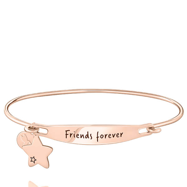 Latest Design Customer Letter Words Polished Women Bangle