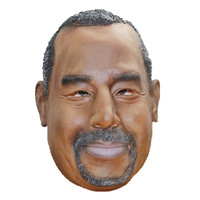 Republican Party president candidate Ben Carson latex mask