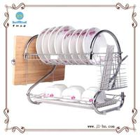 2 tier kitchen basics drying drainer metal dish shelf tableware dinnerware accessory