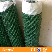 ISO Factory PVC Coated Chain Link Fabric / Plastic Coated Chain Link Fence
