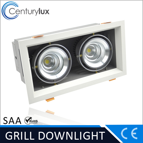 ceiling design two lamp modules 2 x 9 W rectangular led downlight